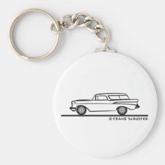 1957 Chevrolet Nomad Basic Round Button Key Ring