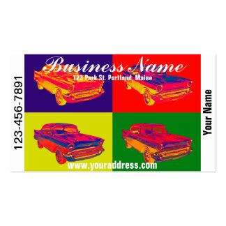 1957 Chevy Bel Air Car Pop Art Business Card