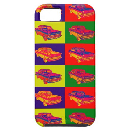 1957 Chevy Bel Air Car Pop Art iPhone 5/5S Cover