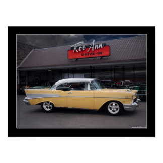 1957 Chevy Bel Air Classic Car Drive-In Poster