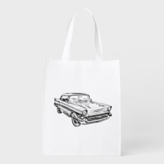 1957 Chevy Bel Air Classic Car Illustration