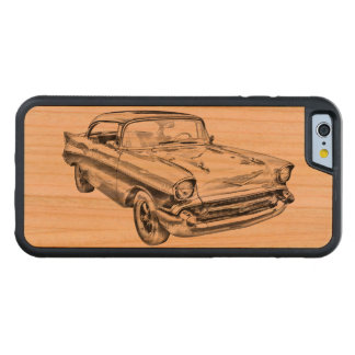 1957 Chevy Bel Air Classic Car Illustration Carved® Cherry iPhone 6 Bumper