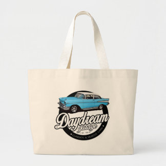 1957 Chevy Bel Air Garage Logo Jumbo Tote Bag