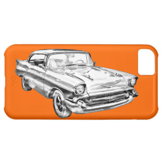 1957 Chevy Bel Air Illustration iPhone 5C Covers