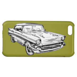 1957 Chevy Bel Air Illustration Cover For iPhone 5C