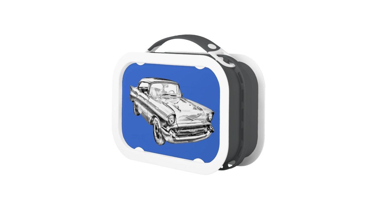 1957 Chevy Bel Air Illustration Lunch Box Zazzle