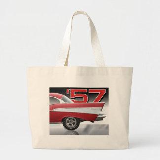 1957 Chevy Bel Air Large Tote Bag