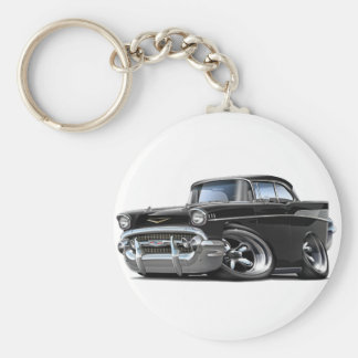 1957 Chevy Belair Black Hot Rod Key Ring