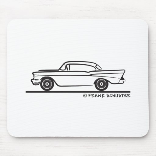 1957 Chevy Hardtop Coupe Mousepad