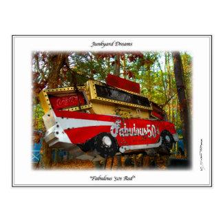 1957 Chevy Nomad Nostalgia Junkyard Art Post Card