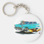 1957 Chevy Nomad Turquoise Car Key Chain