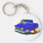 1957 Chevy Pickup Blue Key Chains