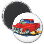1957 Chevy Pickup Red 6 Cm Round Magnet