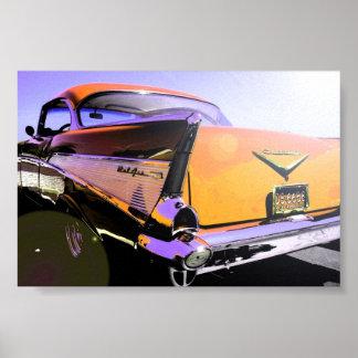 "1957 Chevy ""Sunny Days""Orange Poster"