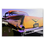 "1957 Chevy ""Sunny Days""Orange Print"