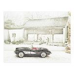 1957 Corvette Convertible Postcards