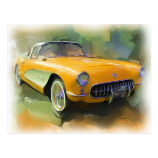 1957 Corvette Postcard
