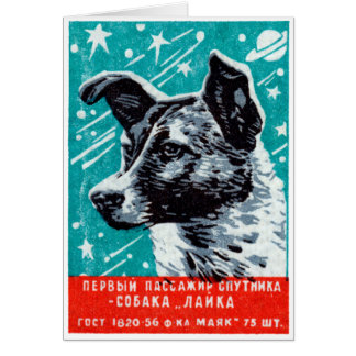 1957 Laika the Space Dog Card
