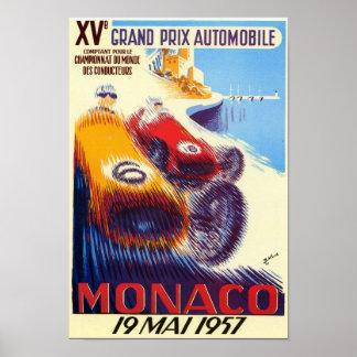 1957 Monaco Grand Prix Poster