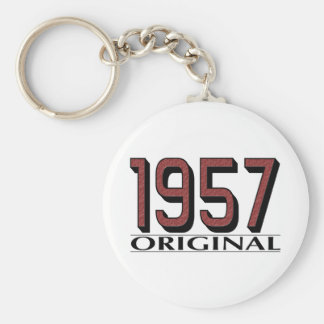 1957 Original Basic Round Button Key Ring