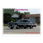 1957 Pontiac Laurentian Police Car Postcard