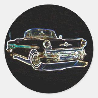 1957 Pontiac Round Sticker