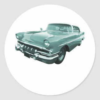 1957 Pontiac Star Chief Round Sticker