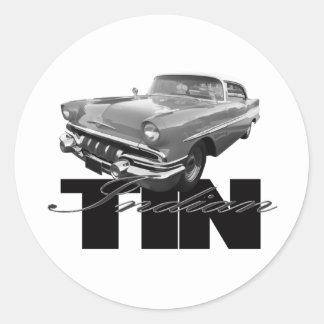 1957 Pontiac Tin Indian Round Stickers