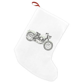 1957 Sportster Motorcycle Small Christmas Stocking