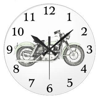 1957 Sportster Motorcycle Wall Clock