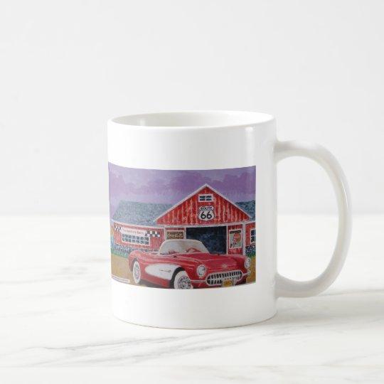 1957corvette painting coffee mug