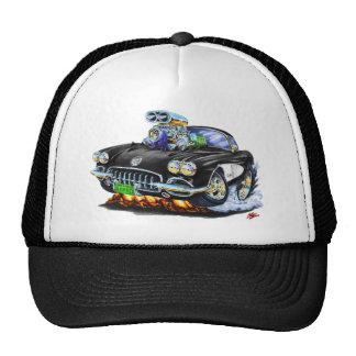 1958-60 Corvette Black Car Hats