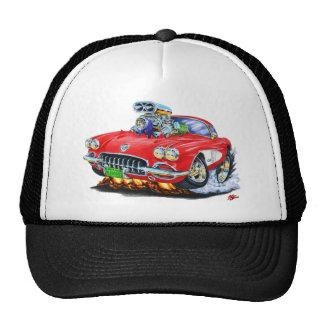 1958-60 Corvette Red Car Trucker Hat