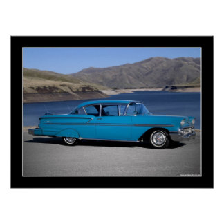 1958 Chevrolet Bel Air Classic Car Poster