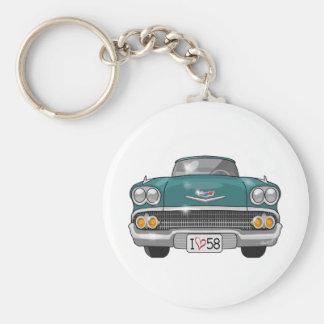 1958 Chevrolet Impala Basic Round Button Key Ring