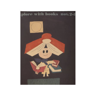 1958 Children's Book Week Wood Poster