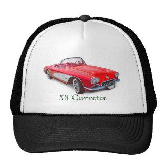 1958 Corvette Convertible Red Classic Car Cap