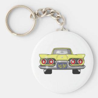 1958 Ford Thunderbird Pass Envy Basic Round Button Key Ring