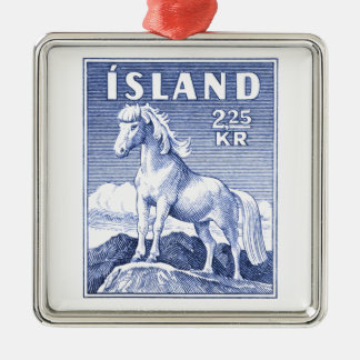 1958 Icelandic Horse Postage Stamp Christmas Ornament