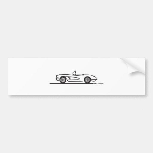 1959 1960 Chevrolet Corvette Bumper Stickers