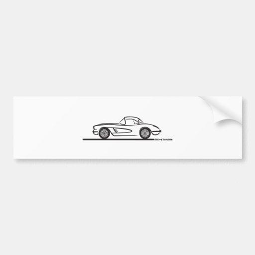 1959 1960 Chevrolet Corvette Hardtop Bumper Stickers