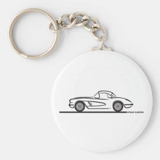 1959 1960 Chevrolet Corvette Hardtop Keychain