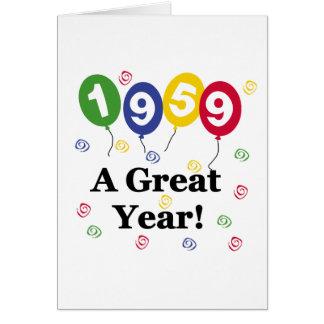 1959 A Great Year Birthday Greeting Card