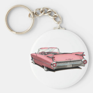 1959 Cadillac Pink Car Key Ring