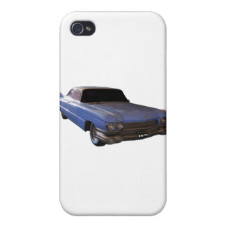 1959 Cadillac powder blue Cover For iPhone 4