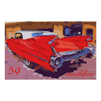 1959-Cadillac smoothflow Poster