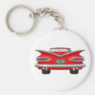1959 Chevrolet Chevy Impala Pass Envy Basic Round Button Key Ring