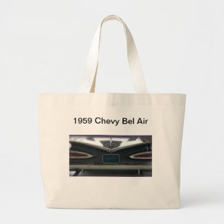 1959 Chevy Bel Air products Large Tote Bag