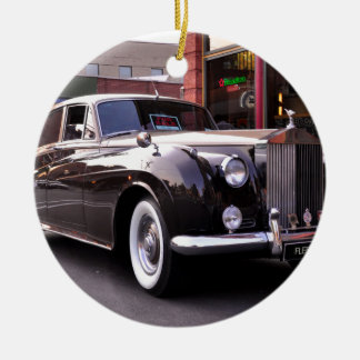 1959 Classic Rolls Royce Round Ceramic Decoration
