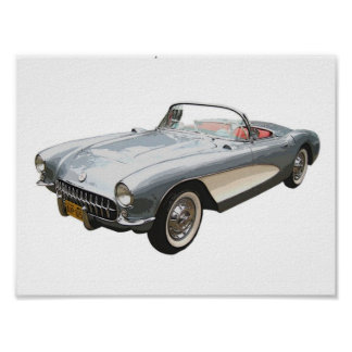 1959 Corvette convertible Print
